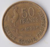 France, 50 Francs 1953, VF, WE855